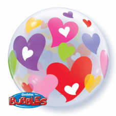 Colourful Hearts Bubble Balloon